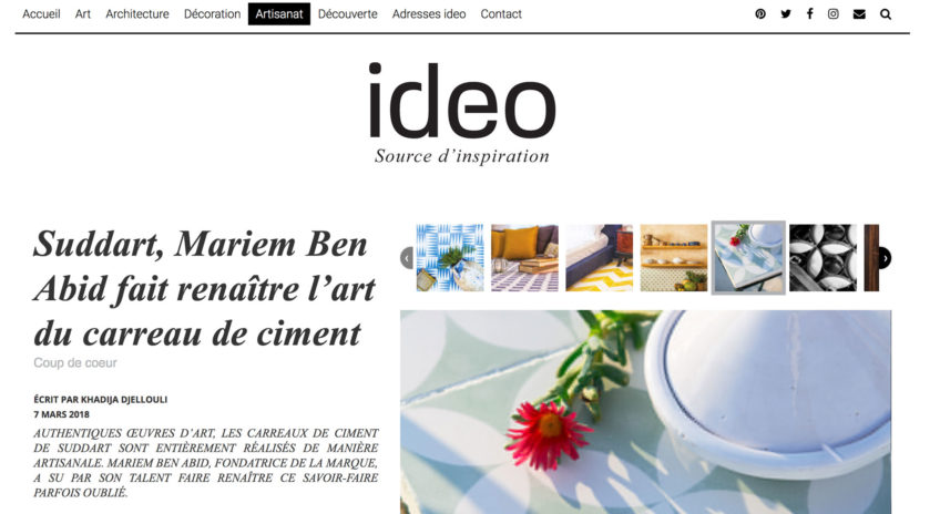 Suddart, Mariem Ben Abid fait renaître l'art du carreau de ciment